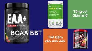 BCAA BBT - Tăng cơ giảm mỡ, tiết kiệm cho sinh viên
