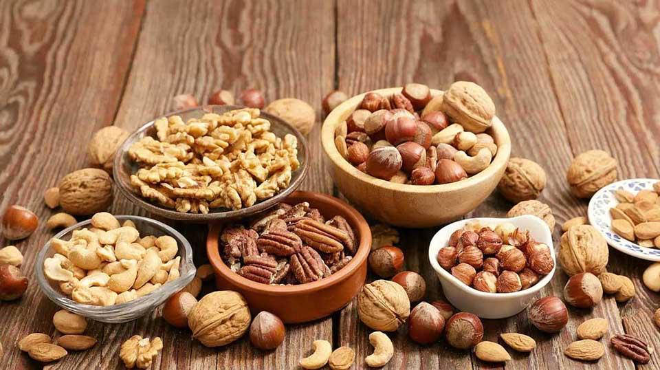 Các loại hạt rất tốt cho việc tăng cân
