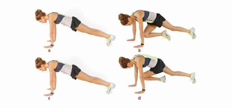 Bước chéo chân để tăng thêm sự tác động vào bụng