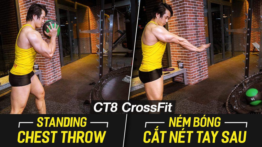 Standing Chest Throw, bài tập đứng ném bóng giúp giảm mỡ với máy CT8