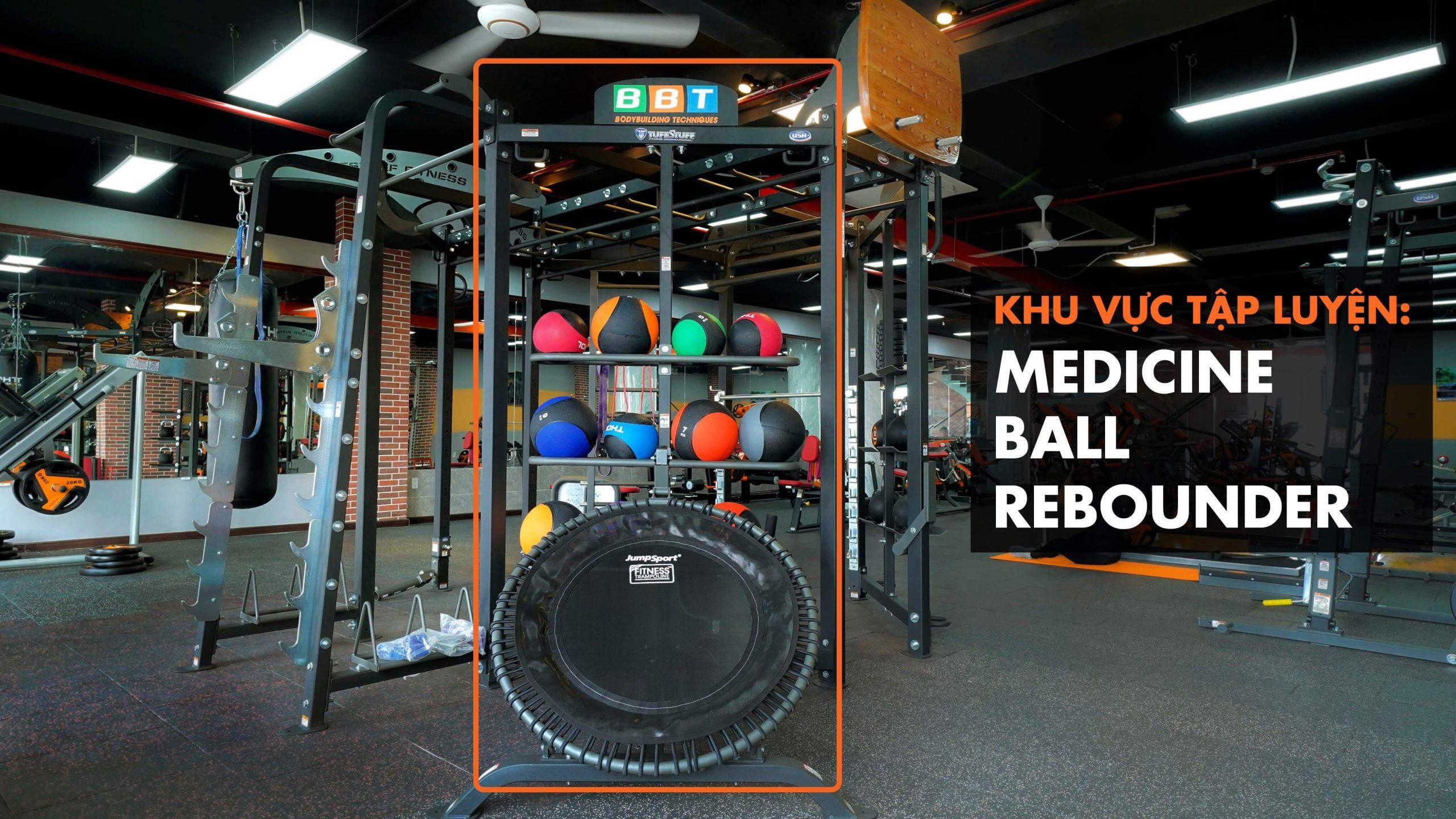 Khu vực tập luyệnMedicine Ball Rebounder.