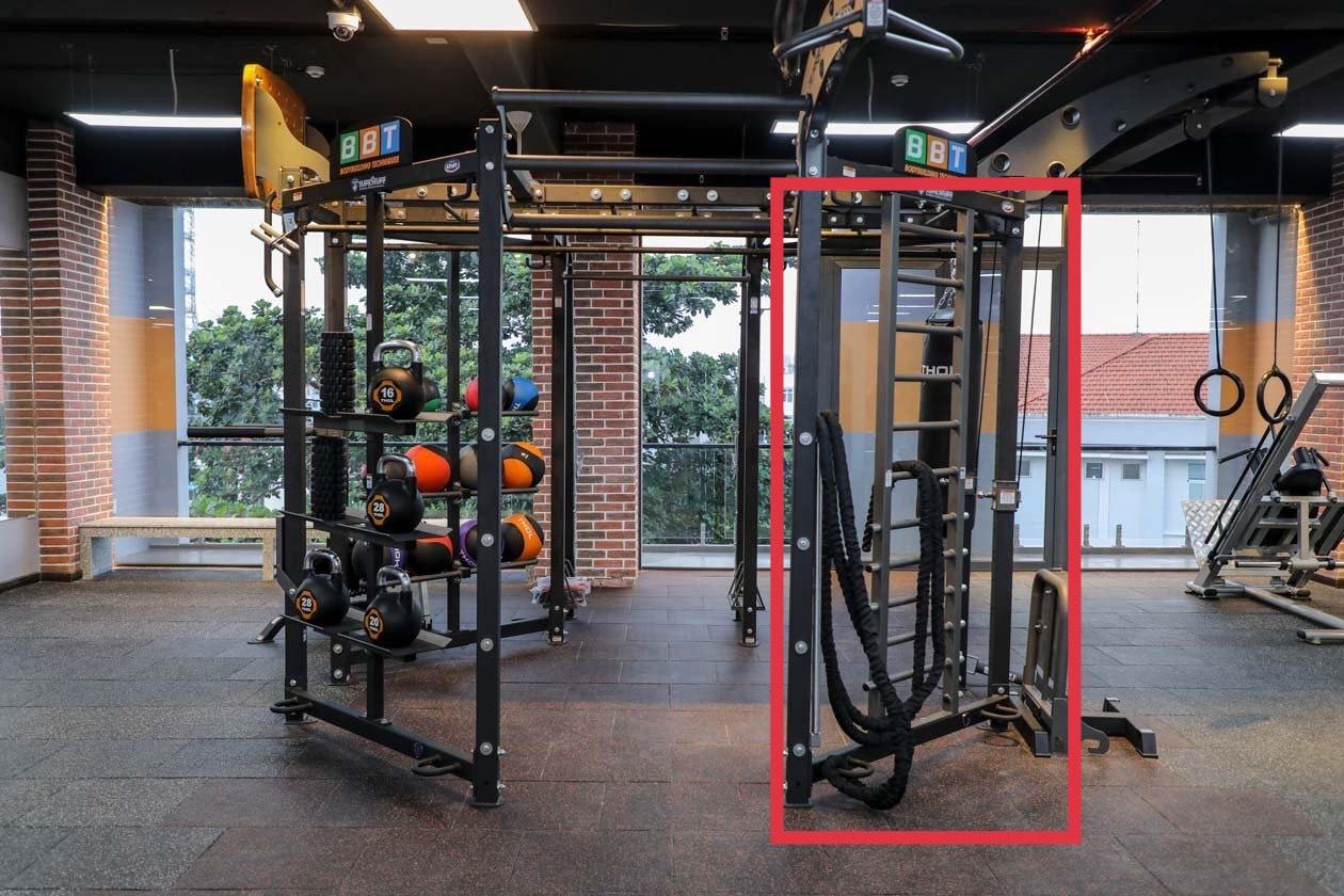 Khu vực tập luyện Adjustable Step-Up/Stretch