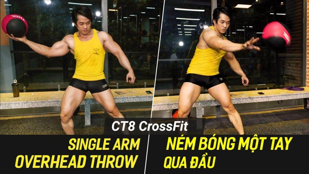 Single Arm Overhead Throw - Ném bóng một tay trên máy CT8.