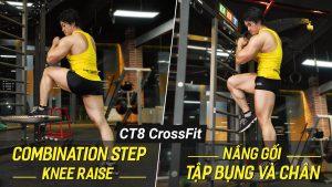 Combination Step-Knee Raise, bài tập Functional giúp eo nhỏ, chân thon