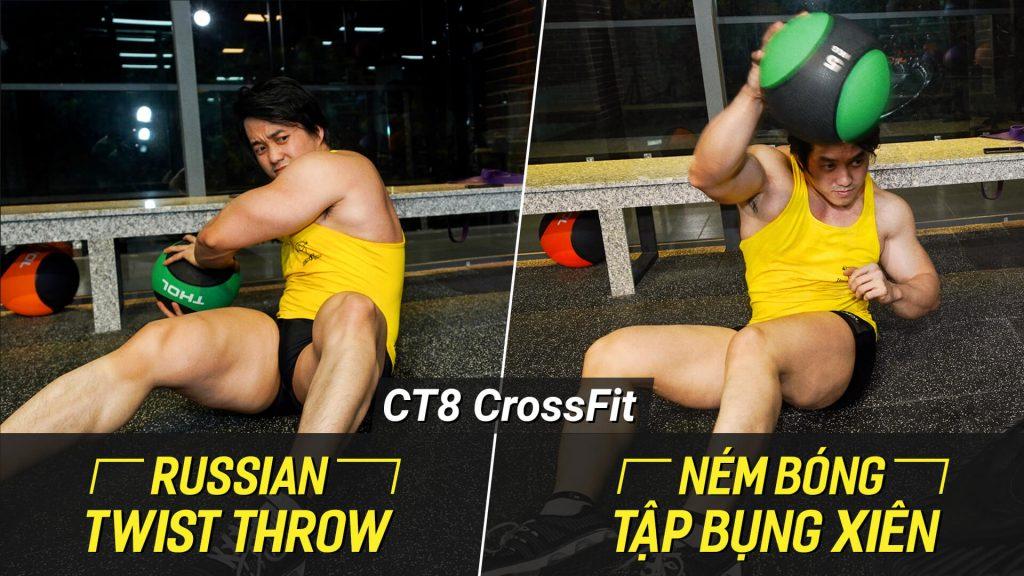 Russian Twist Throw - Tập nét cơ liên sườn, giảm mỡ vùng eo với bóng tạ