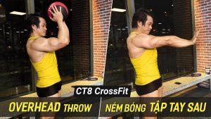 Overhead Throw - Bài tập ném bóng giảm mỡ bắp tay sau với máy CT8