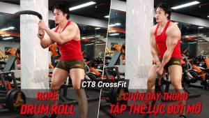 Rope Drum Roll - Cuộn dây thừng tập thể lực, đốt cháy mỡ thừa cùng CT8