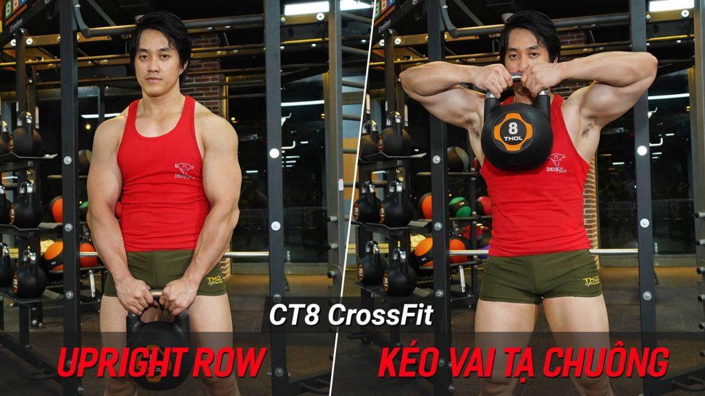 Upright Row - Hướng dẫn tập crossfit động tác nâng vai với tạ chuông