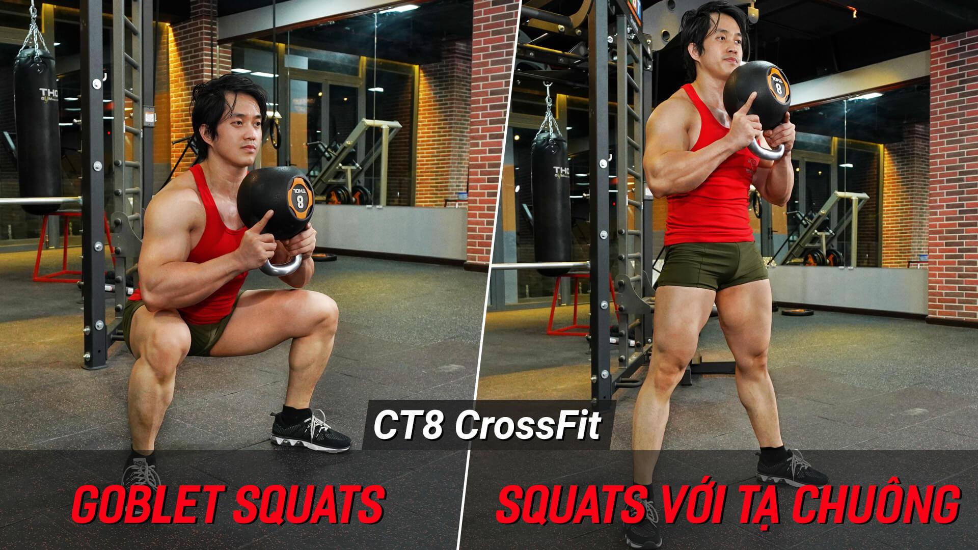 Goblet Squats - Hướng dẫn Squat cho vòng 3 to tròn sexy với tạ chuông