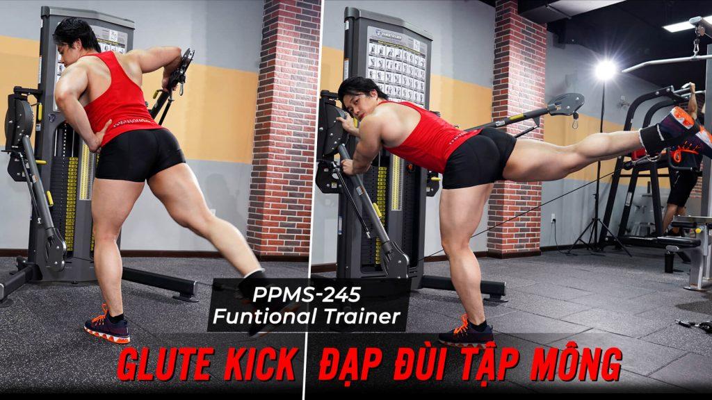 Glute Kick - Cách đá đùi tập mông căng tròn trên máy Functional Trainer