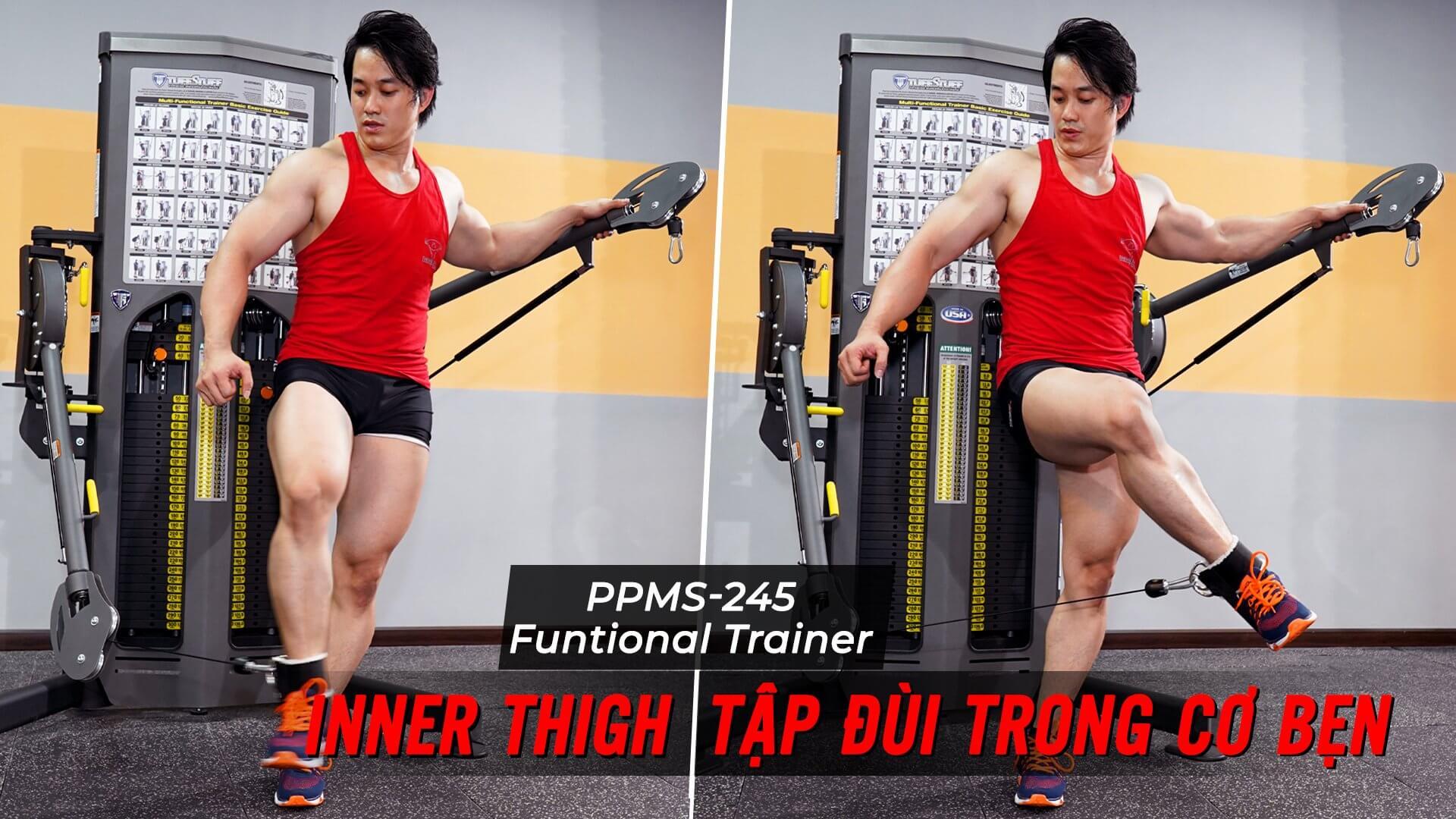 Inner/Outer Thigh - Cách tập đá đùi trong và ngoài trên Functional Trainer