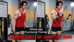 Standing Curls - Cách tập tay trước với Functional Trainer (PPMS-245)