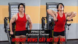 Upright Rows - Cách tập cắt nét cơ vai với cáp trên Functional Trainer