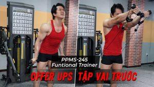 Offer Ups - Cách tập vai trước với cáp trên Functional Trainer (PPMS-245)