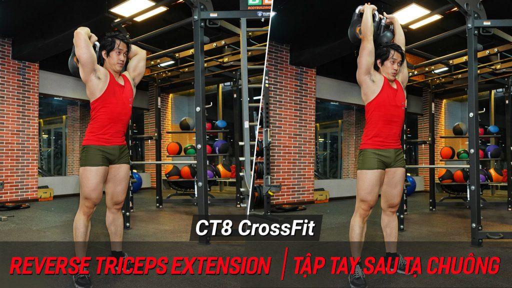 Reverse Triceps Extension - Cách tập crossfit cắt nét tay sau với tạ chuông